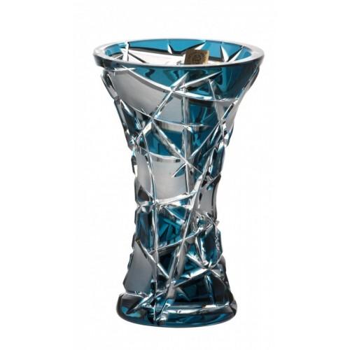 Vaso Mars, cristallo, colore azzurro, altezza 155 mm