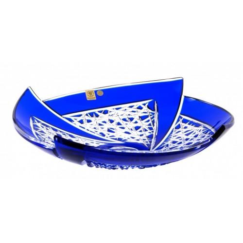 Insalatiera Fan, cristallo, colore blu, diametro 350 mm