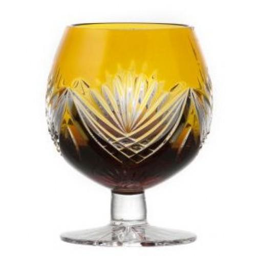 Bicchiere Brandy Janette, cristallo, colore ambra, volume 230 ml