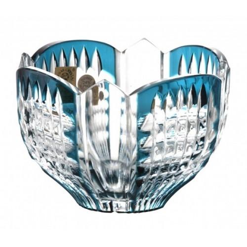 Ciotola Hoarfrost, cristallo, colore azzurro, diametro 110 mm