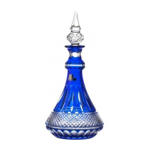 Bottiglia Tomy, cristallo, colore blu, volume 1300 ml