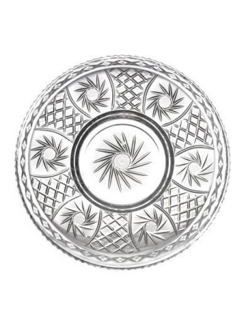 Piatto Pinwheel, cristallo trasparente, diametro 440 mm