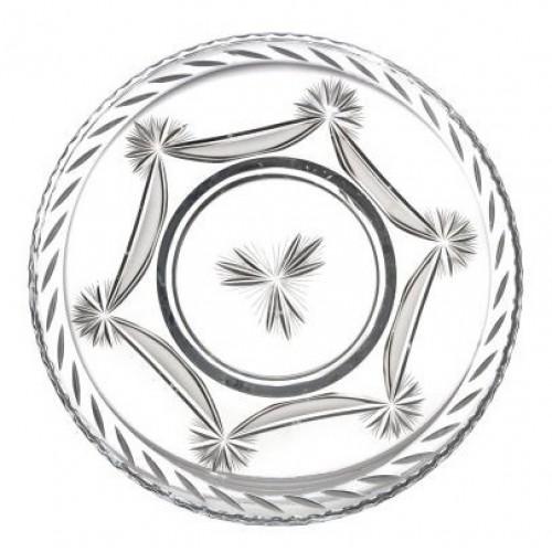 Piatto Fiocchi, cristallo trasparente, diametro 440 mm