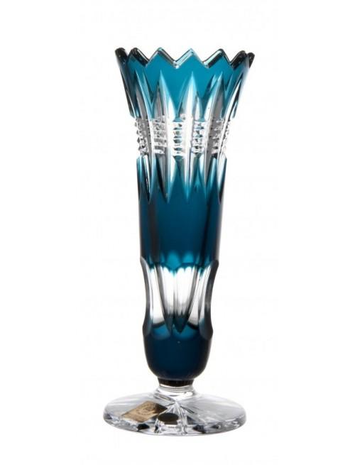Vaso Brilant, cristallo, colore azzurro, altezza 175 mm