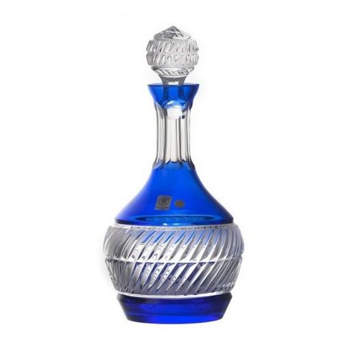 Bottiglia Nip, cristallo, colore blu, volume 1000 ml
