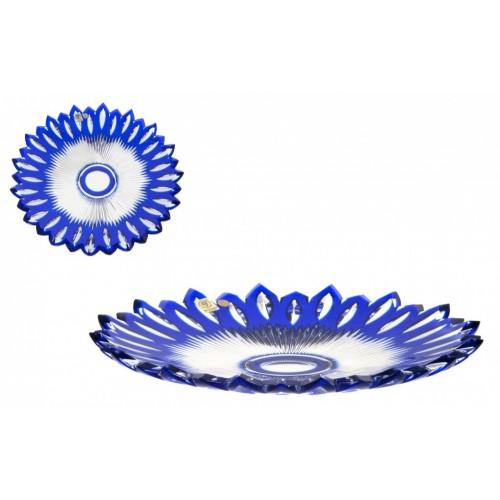 Piatto Nip, cristallo, colore blu, diametro 300 mm