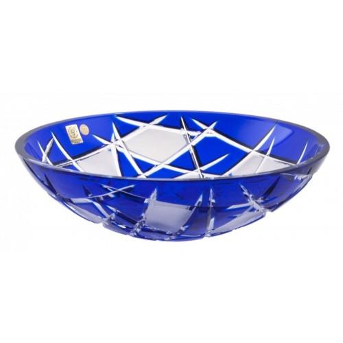 Insalatiera Mars, cristallo, colore blu, diametro 280 mm