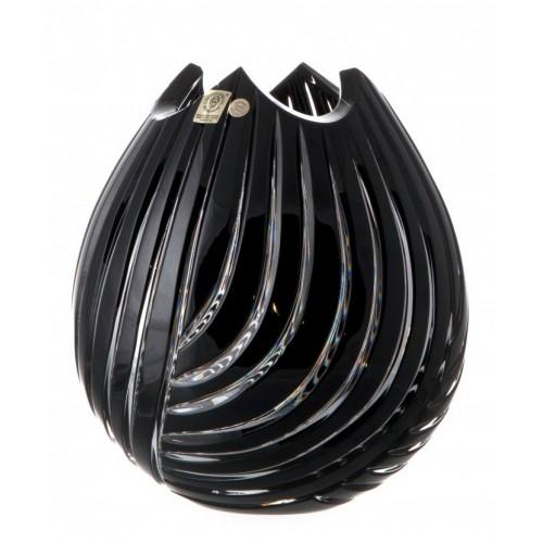 Vaso Linum, cristallo, colore nero, altezza 210 mm