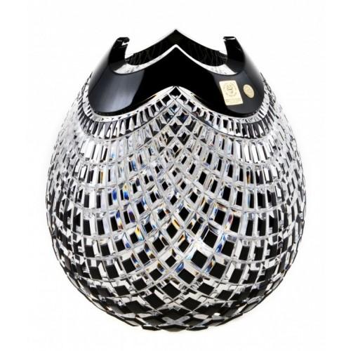 Vaso Quadrus, cristallo, colore nero, altezza 210 mm