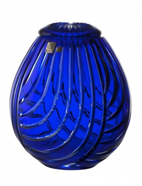 Urna Linum, cristallo, colore blu, altezza 230 mm