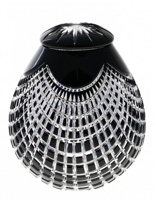 Urna Quadrus, cristallo, colore nero, altezza 230 mm