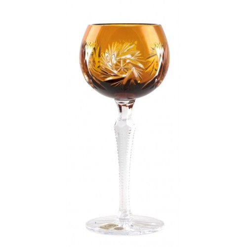Bicchiere Pinwheel, cristallo, colore ambra, volume 190 ml