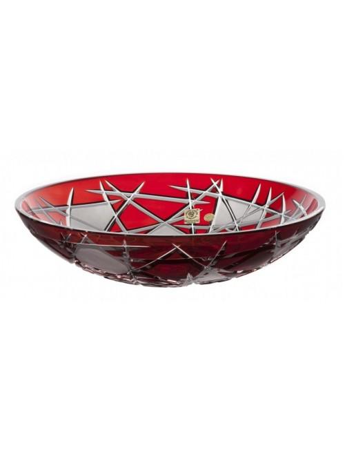 Insalatiera Mars, cristallo, colore rosso, diametro 280 mm