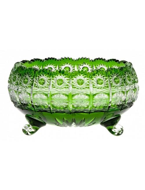 Insalatiera Paula, cristallo, colore verde, diametro 230 mm