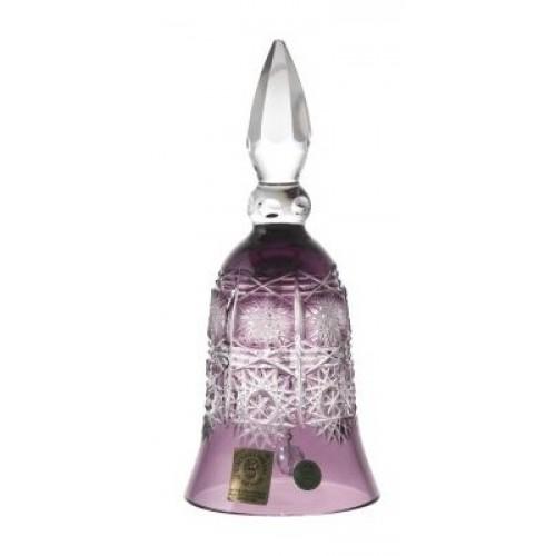 Campanella Paula, cristallo, colore viola, altezza 155 mm