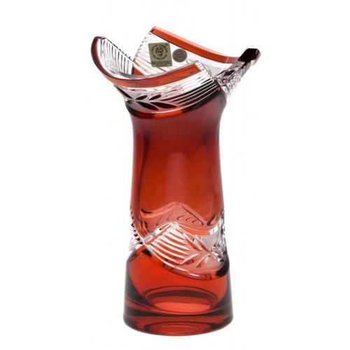 Vaso Laurel, cristallo, colore rosso, altezza 185 mm