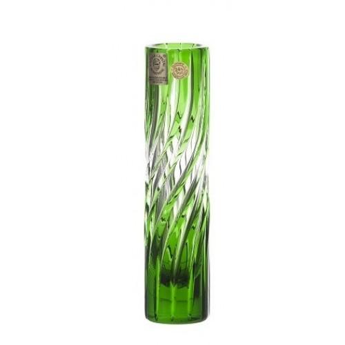 Vaso Zita, cristallo, colore verde, altezza 155 mm
