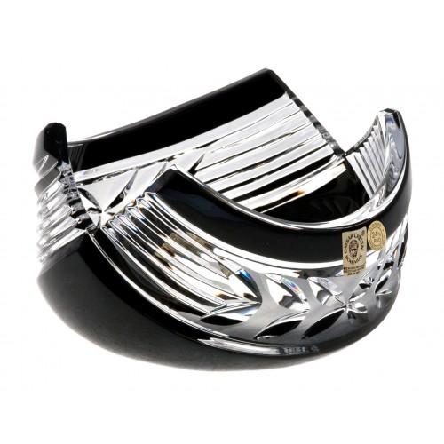 Ciotola Laurel, cristallo, colore nero, diametro 100 mm