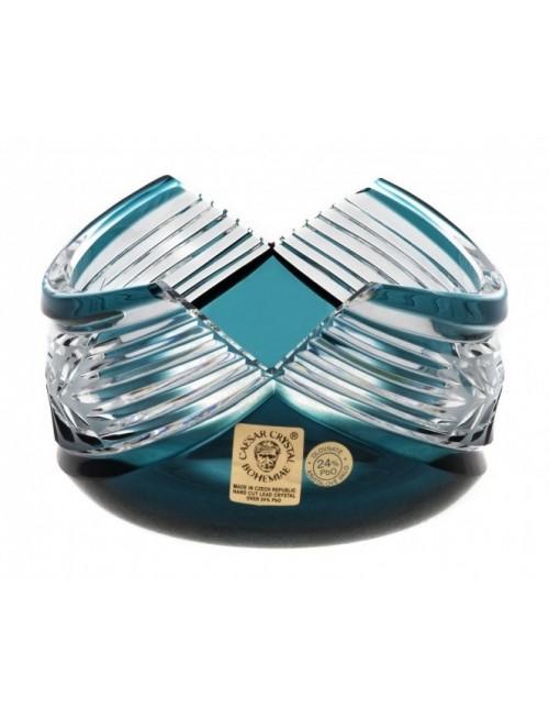 Ciotola Laurel, cristallo, colore azzurro, diametro 100 mm