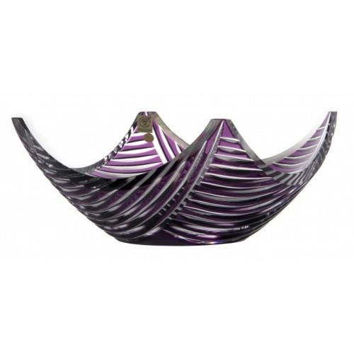 Insalatiera Linum, cristallo, colore viola, diametro 280 mm