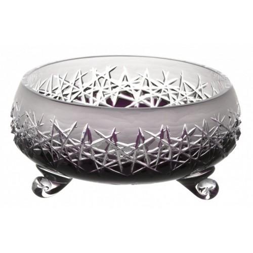 Insalatiera Hoarfrost II, cristallo, colore viola, diametro 205 mm