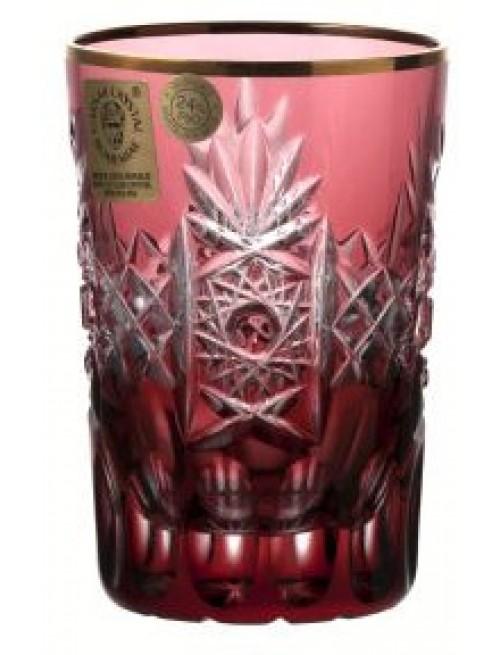 Bicchiere Oro, cristallo, colore rosso, volume 100 ml