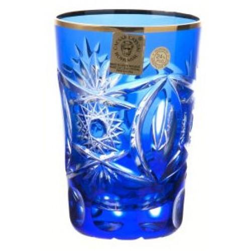 Bicchiere Oro, cristallo, colore blu, volume 145 ml