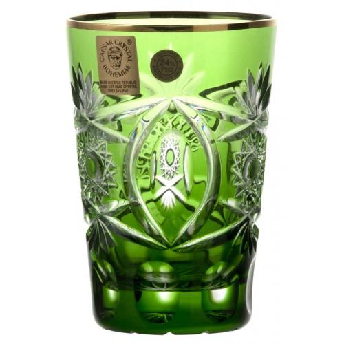 Bicchiere Oro, cristallo, colore verde, volume 145 ml