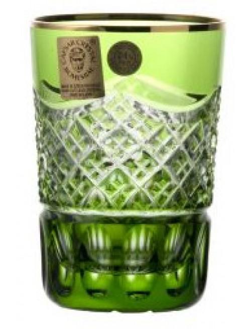 Bicchiere Oro, cristallo, colore verde, volume 100 ml