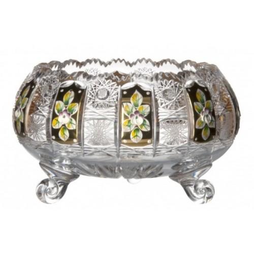 Insalatiera 500PK, cristallo trasparente dipinto oro II, diametro 205 mm