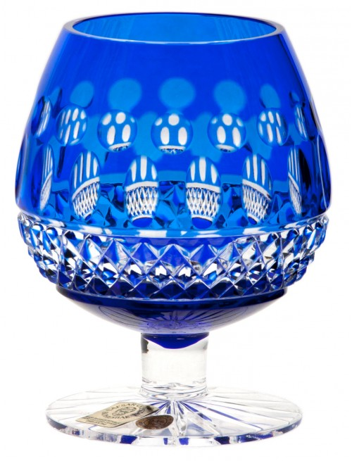 Bicchiere Brandy Tomy, cristallo, colore blu, volume 230 ml