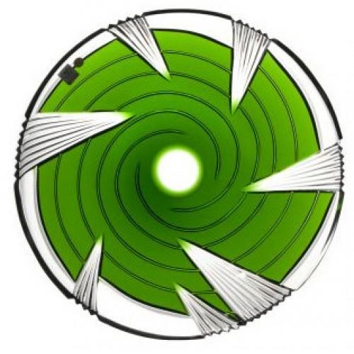 Piatto Whirl, cristallo, colore verde, diametro 300 mm