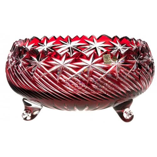Insalatiera Sky, cristallo, colore rosso, diametro 280 mm