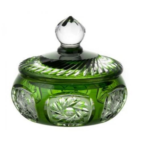 Confettiera Mill flatness, cristallo, colore verde, altazza 165 mm