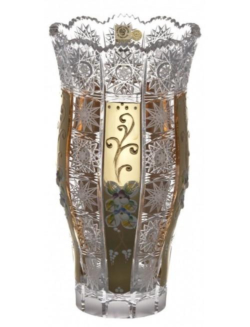 Vaso 500PK III, cristallo trasparente dipinto oro, altezza 255 mm