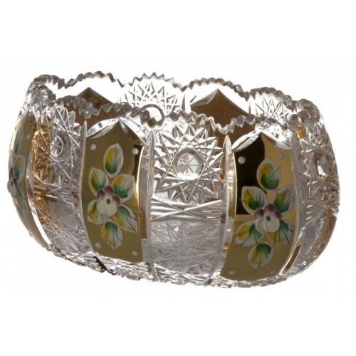 Insalatiera 500PK III, cristallo trasparente dipinto oro, diametro 115 mm
