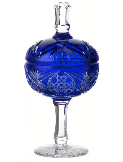 Coppa Beata, cristallo, colore blu, altezza 315 mm