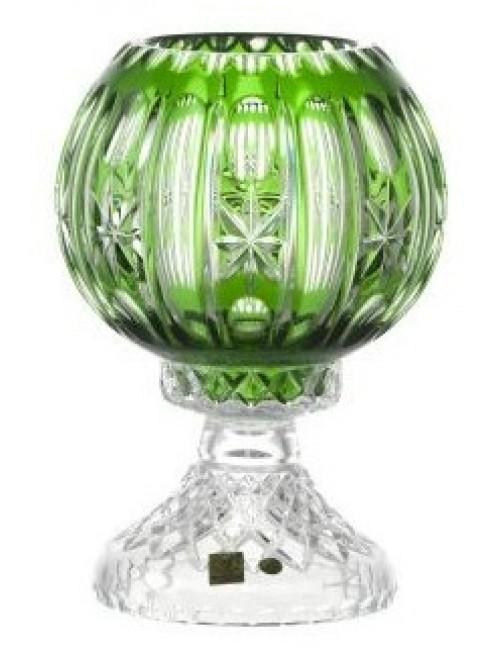 Lampada Malaga, cristallo, colore verde, altezza 225 mm