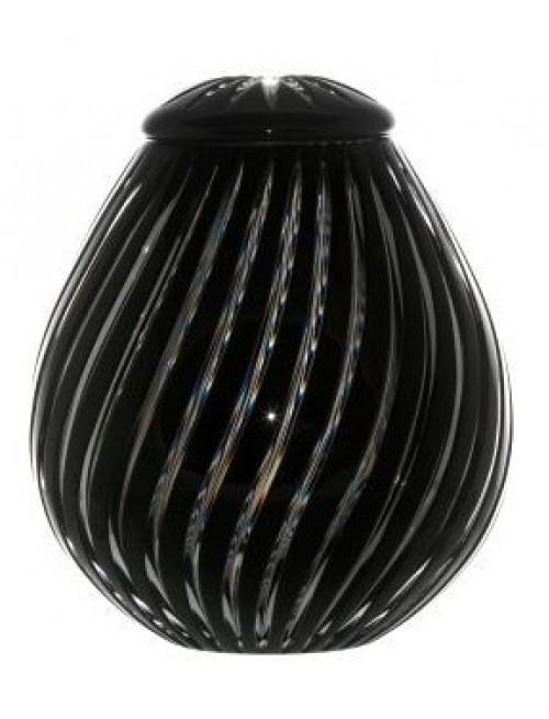 Urna Zita, cristallo, colore nero, altezza 230 mm