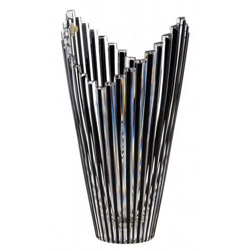 Vaso Mikado, cristallo, colore nero, altezza 310 mm