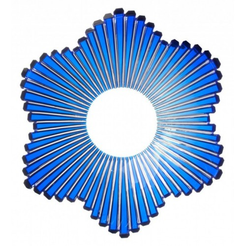 Insalatiera Mikado, cristallo, colore blu, diametro 335 mm