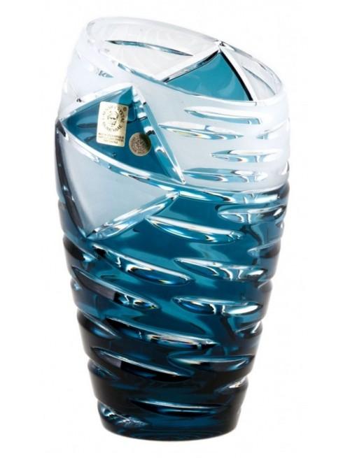 Vaso Mirage, cristallo, colore azzurro, altezza 230 mm