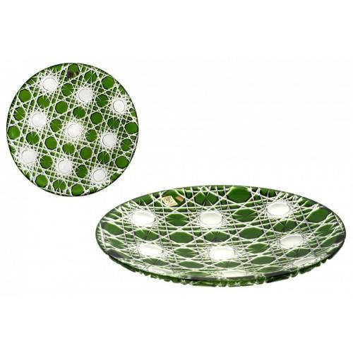 Piatto Flake, cristallo, colore verde, diametro 300 mm