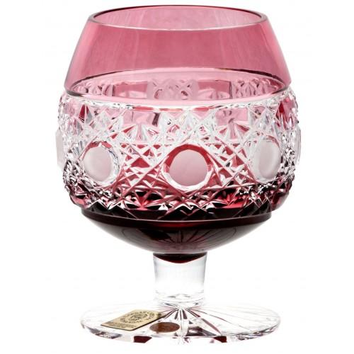 Bicchiere Brandy Flake, cristallo, colore rosso, volume 230 ml