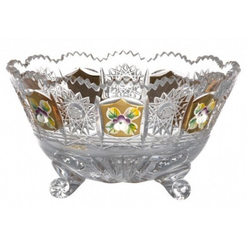 Insalatiera 500PK II, cristallo trasparente dipinto oro, diametro 155 mm