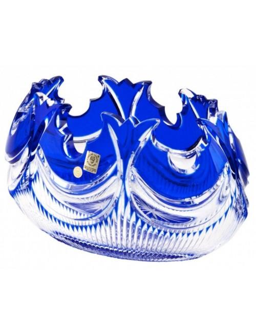 Insalatiera Diadem, cristallo, colore blu, diametro 255 mm
