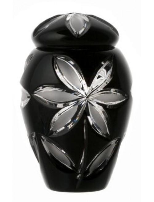 Urna Linda, cristallo, colore nero, altezza 120 mm