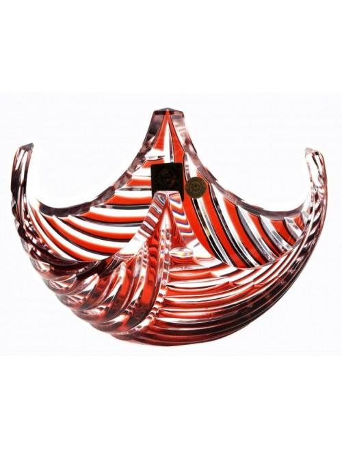 Ciotola Linum, cristallo, colore rosso, diametro 140 mm
