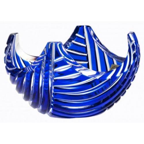 Ciotola Linum, cristallo, colore blu, diametro 140 mm