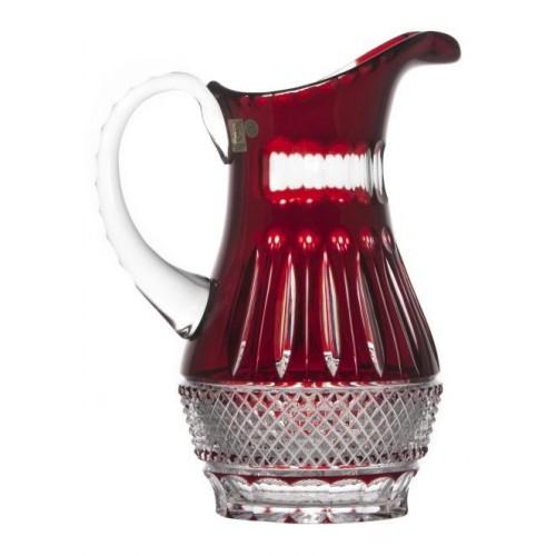 Brocca Tomy, cristallo, colore rosso, volume 1300 ml